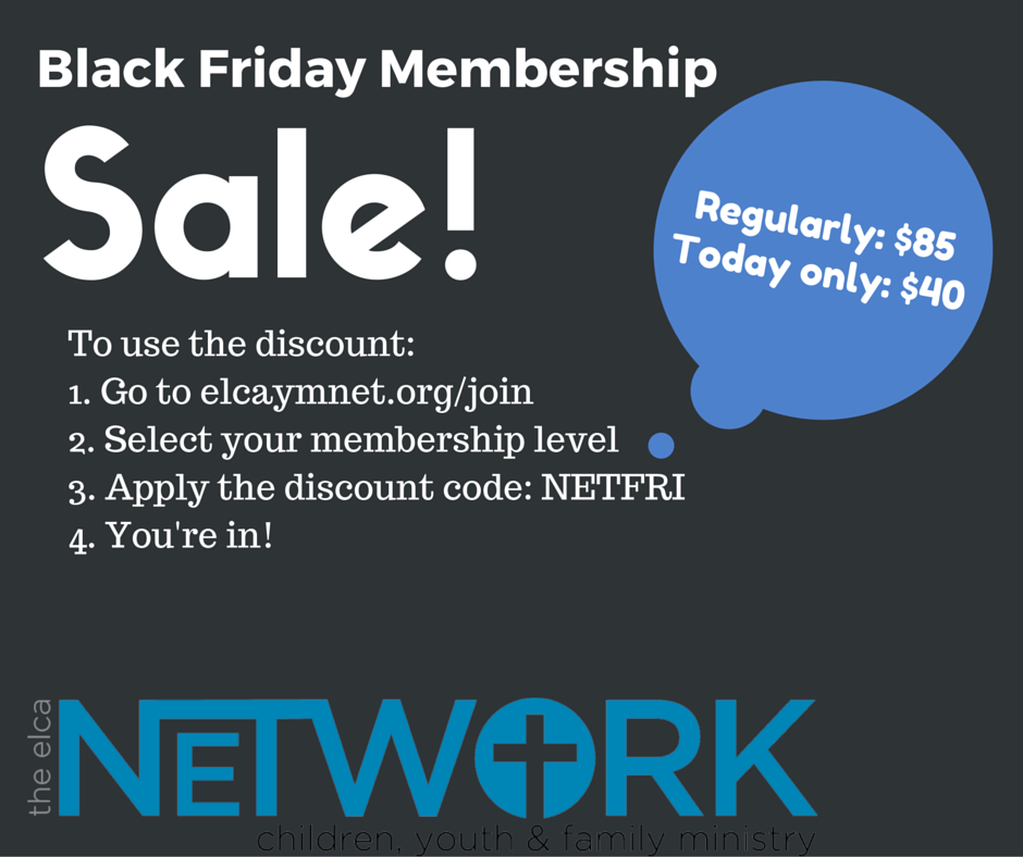 Elca Youth Ministry Network Good Friday Membership Sale
